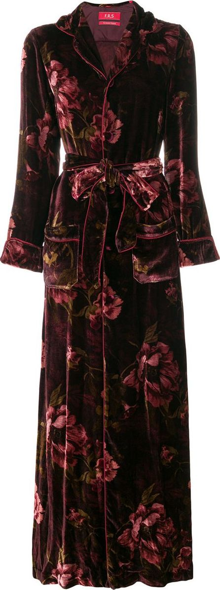 F.R.S For Restless Sleepers floral buttoned dressing gown
