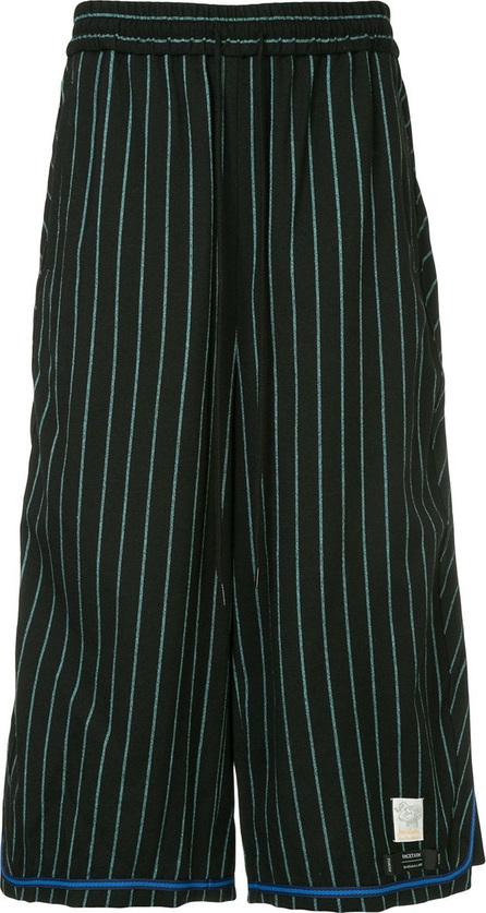 FACETASM Facetasm x Woolmark striped long shorts
