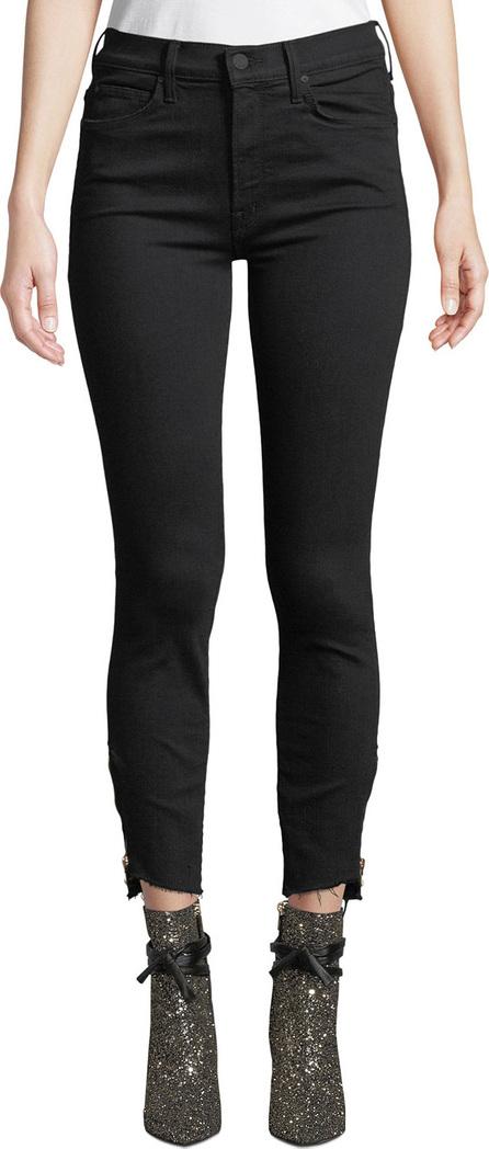 MOTHER The Stunner Double-Zip Step-Hem Skinny Jeans