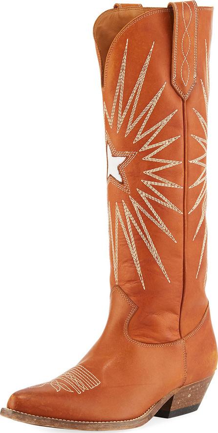Golden Goose Deluxe Brand Wish Star Knee-High Cowboy Boot