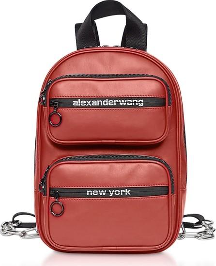 Alexander Wang Red Matte Soft Nappa Leather Attica Medium Backpack