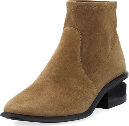 Alexander Wang Kori Stretch Suede Ankle Booties
