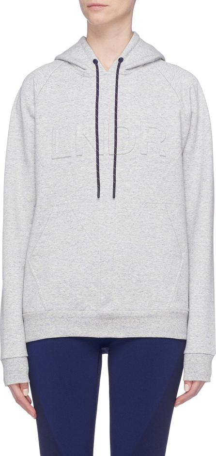 LNDR 'College Press' logo embossed COOLMAX® hoodie