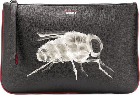 Bally Bee x-ray clutch bag