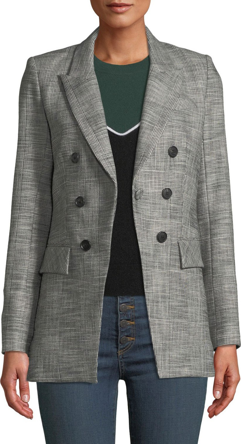 bcf85ca7d2209 Veronica Beard Fortuna Check Single-Button Dickey Jacket - Mkt