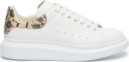Alexander McQueen 'Oversized Sneaker' in leather with python embossed collar
