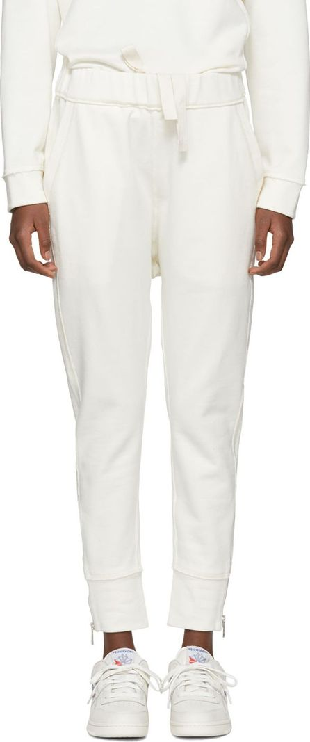 Jil Sander Off-White Zippered Side Lounge Pants
