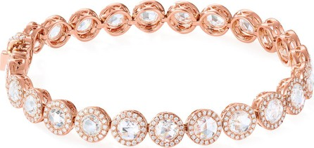 64 Facets 18k Rose Gold Scallop Diamond Tennis Bracelet