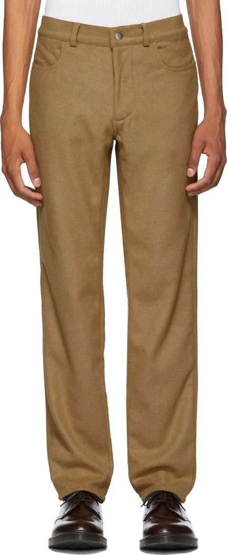 Daniel W. Fletcher Camel Side Stripe Wool 'Jeans' Trousers