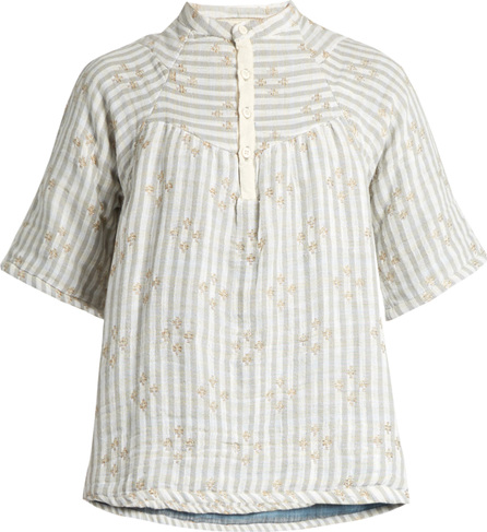 ace&jig Bronte striped cotton-blend top