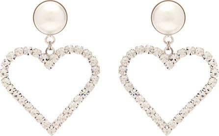 Alessandra Rich Crystal-embellished heart-charm earrings