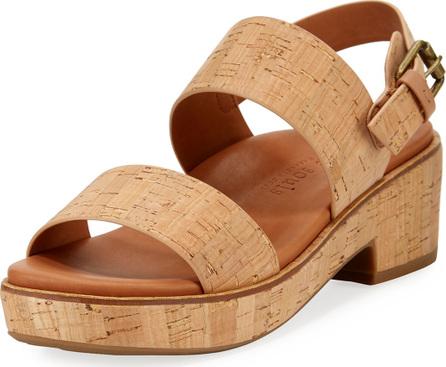Gentle Souls Talia Cork Flatform City Sandals, Neutral