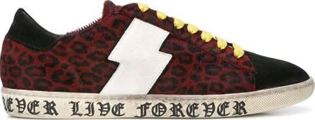 Amiri live forever leopard viper sneakers