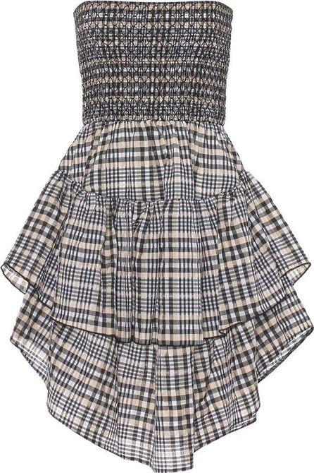 Ganni Charron cotton-blend dress