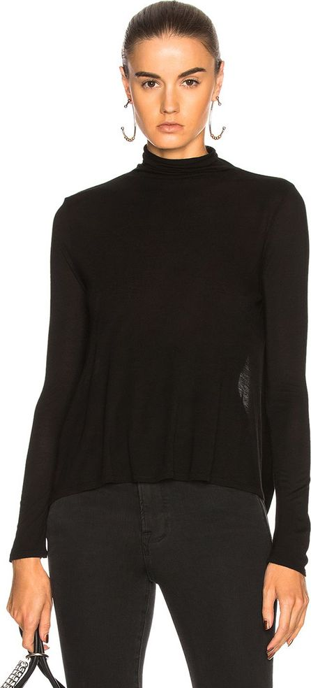 ENZA COSTA Open Back Turtleneck Top