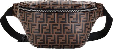 Fendi Men's FF Embossed Leather Belt Bag/Fanny Pack