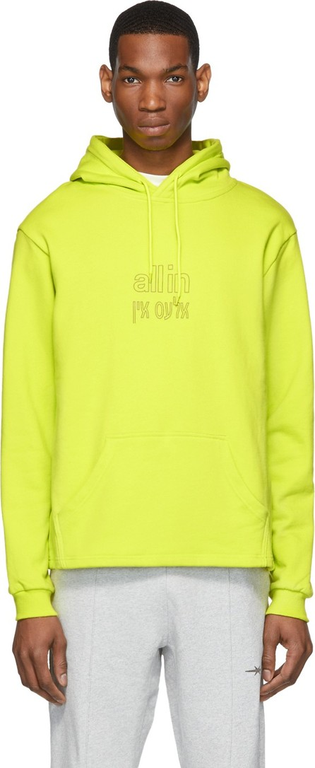 all in SSENSE Exclusive Yellow Yiddish Hoodie