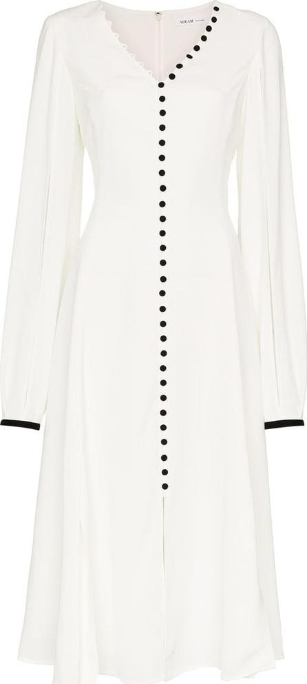 ADEAM Button down V-neck dress