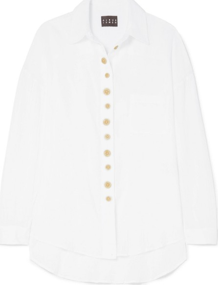 Albus Lumen Traveller cotton-gauze shirt