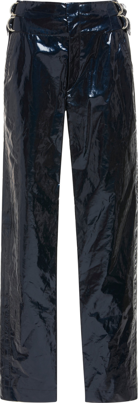 Isabel Marant Ennya Coated Cotton And Linen-Blend Skinny Pants