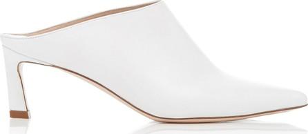 Stuart Weitzman Mira Leather Pointed-Toe Mules