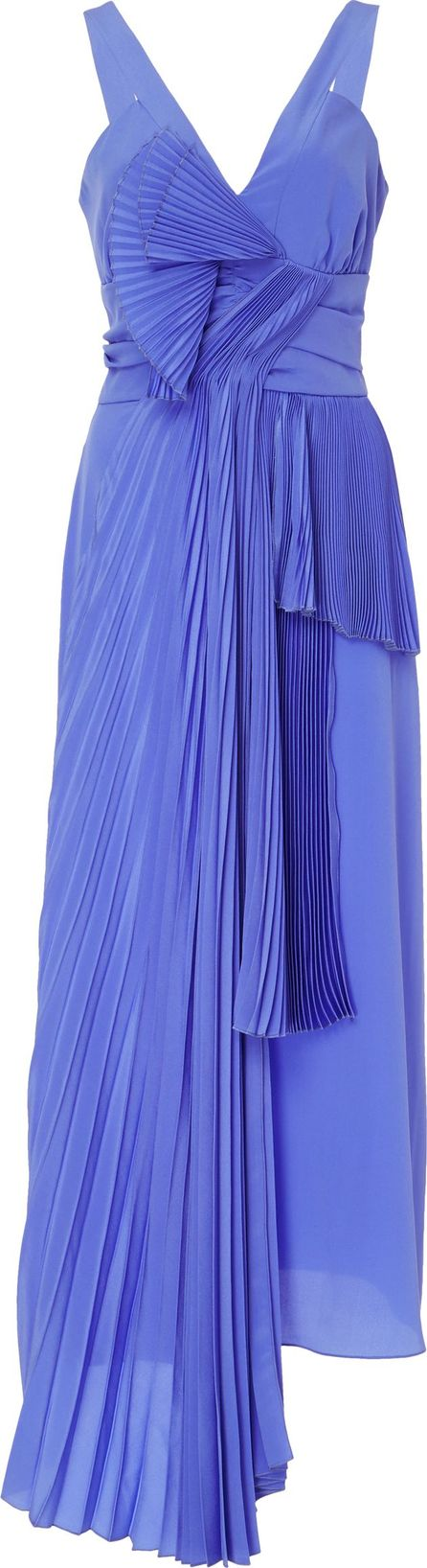 ROCHAS Pleated Silk Dress