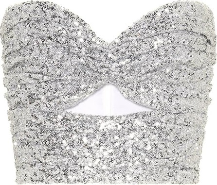 Attico Sequined bustier