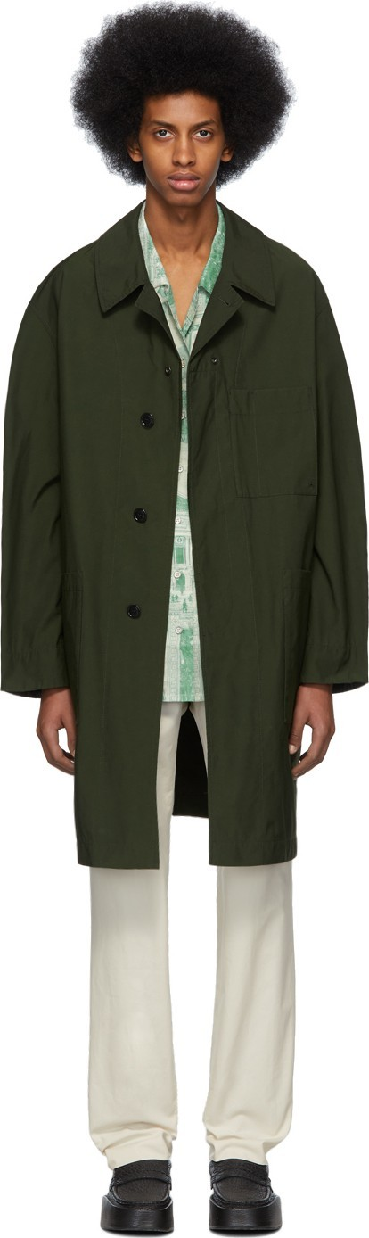 Acne Studios Green Orel Coat