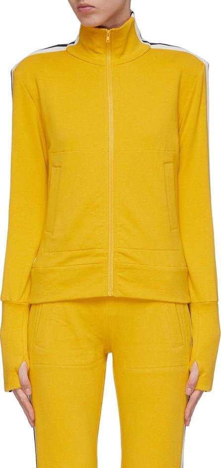 Norma Kamali Stripe sleeve turtleneck track jacket