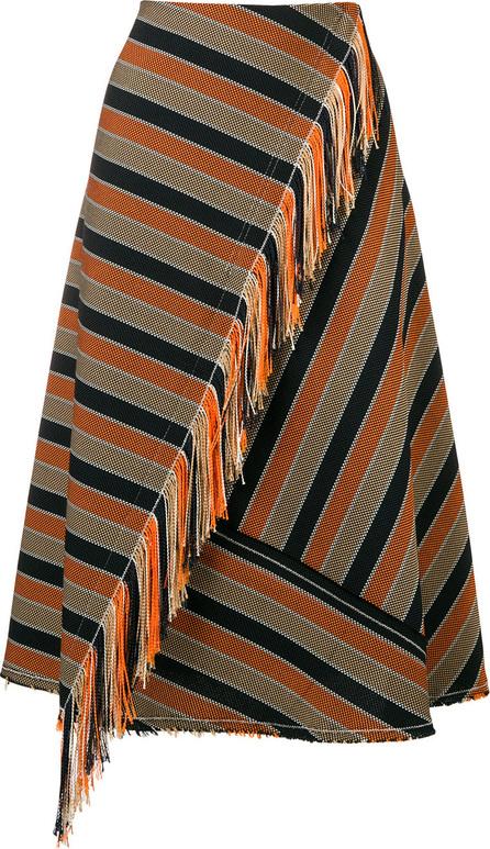 Golden Goose Deluxe Brand A-line striped skirt