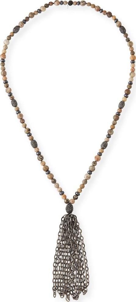 Hipchik Couture St. Barths Chain Tassel Necklace