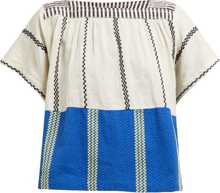 ace&jig Vista Aztec striped cotton-voile top