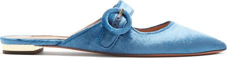 Aquazzura Blossom Mary-Jane velvet slipper shoes