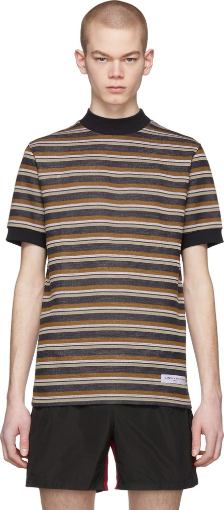 Daniel W. Fletcher Black Vintage Striped T-Shirt