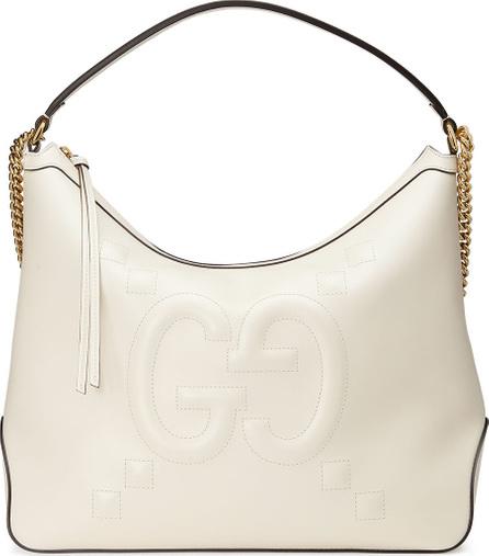 Gucci Original Large Leather Embossed GG Hobo Bag