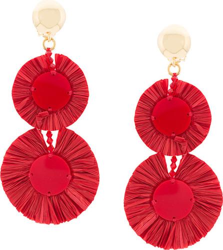 Oscar De La Renta Fringed drop earrings