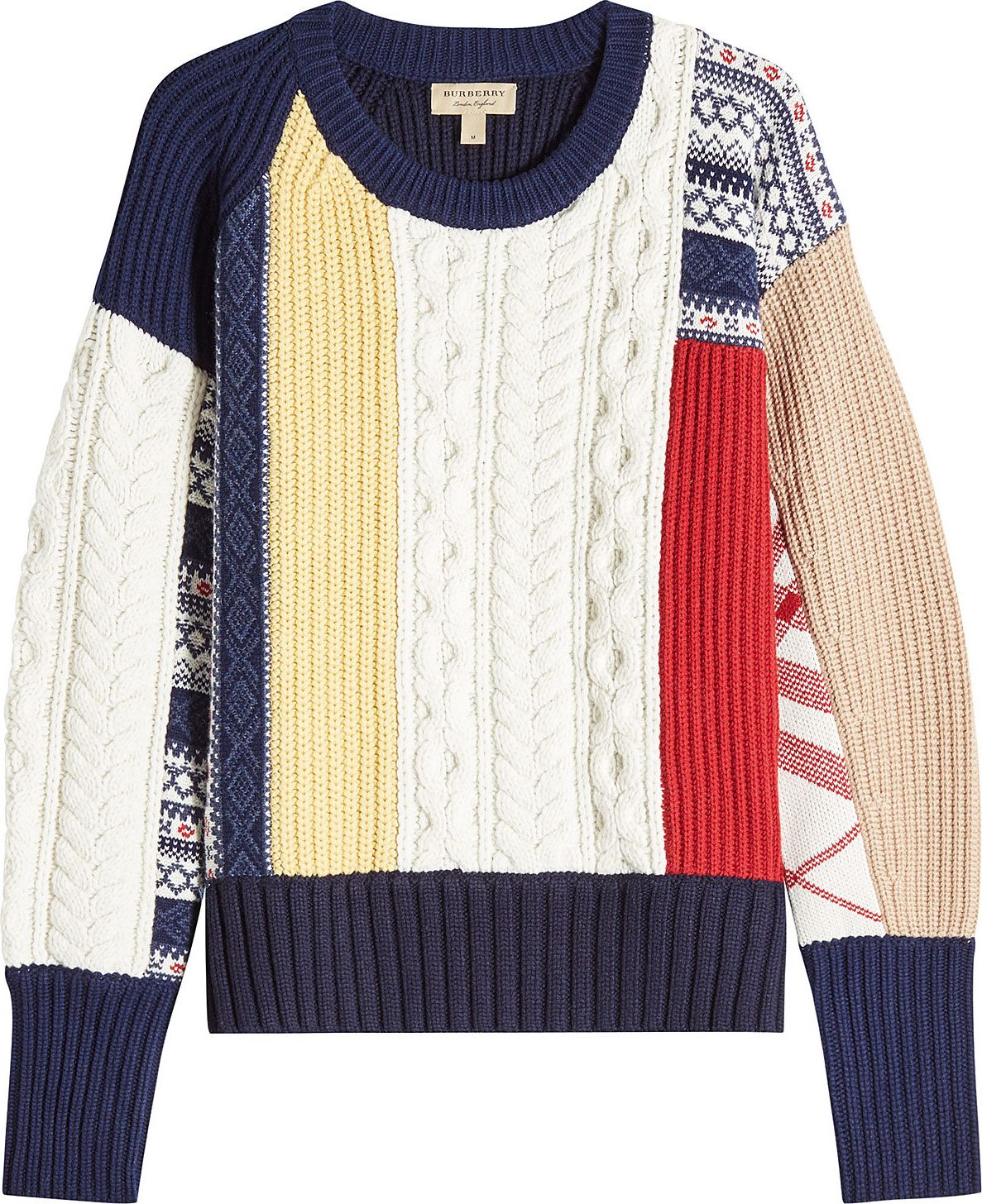 Burberry London England - Wool Pullover with Cashmere