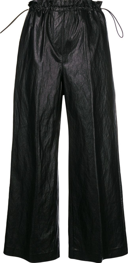 Nude Cropped wide leg trousers