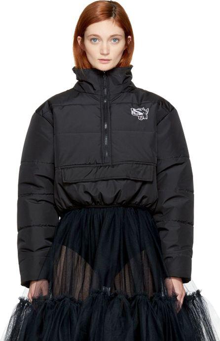 Ashley Williams Black Cropped 'Misery' Puffer Jacket