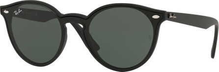 Ray Ban Round Lens-Over-Frame Plastic Sunglasses