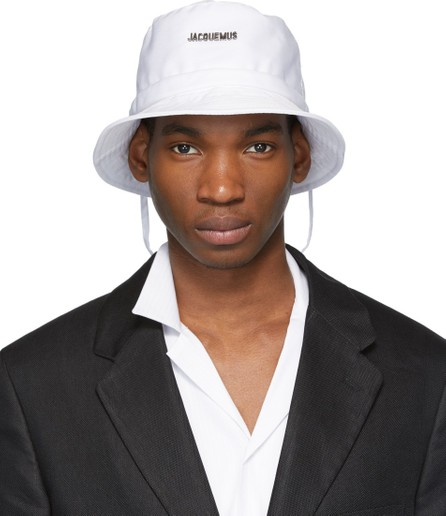 Jacquemus White 'Le Bob' Bucket Hat