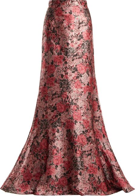 Erdem Clement floral-jacquard maxi skirt