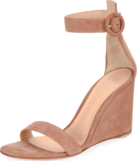 Gianvito Rossi Portofino Suede Wedge 85mm Sandal