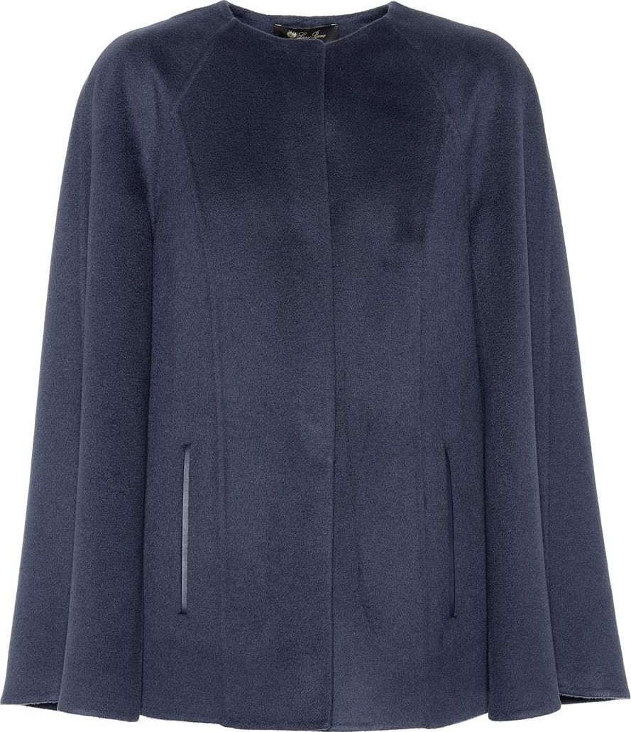 Loro Piana - Leather-trimmed cashmere cape