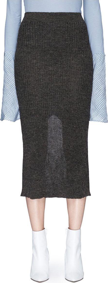 Acne Studios 'Randa' alpaca-wool rib knit pencil skirt