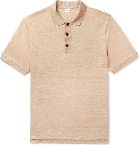 Brioni Mélange Linen Polo Shirt
