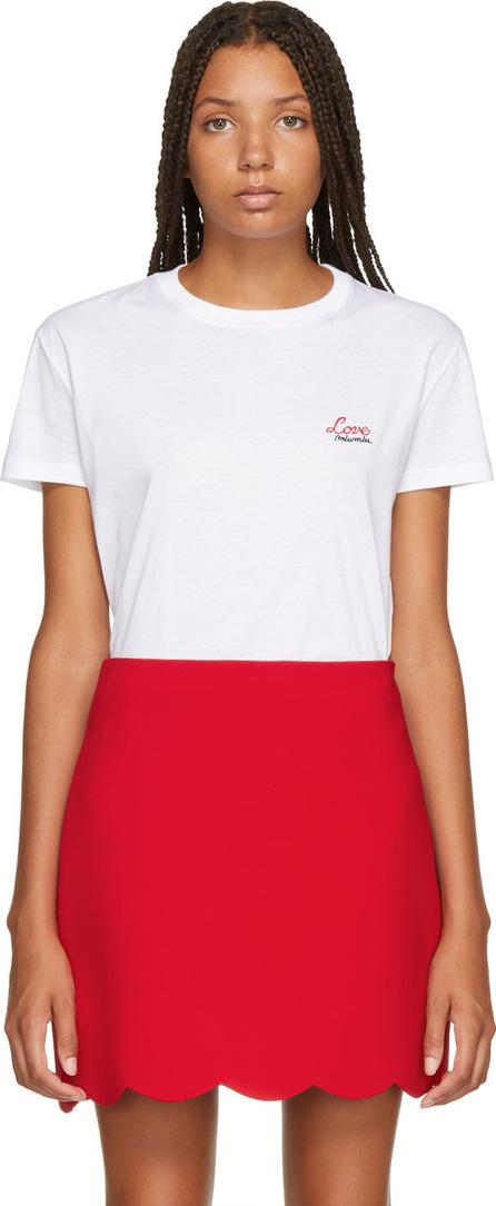 Miu Miu White 'Love' T-Shirt