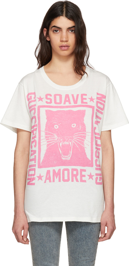 Gucci Off-White 'Soave Amore' Panther T-Shirt