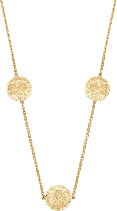 Anissa Kermiche Louise D'Or coin 18kt gold necklace