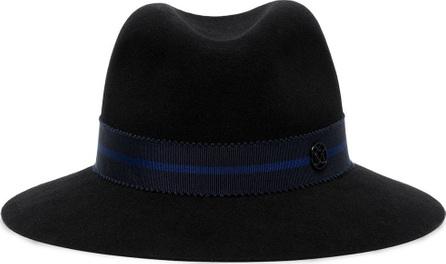 Maison Michel Ribbon Detail Wool Fedora Hat